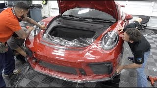 Download Clear Bra Fail - Porsche GT3 - Full Suntek Ultra PPF & CQuartz Finest Reserve Video