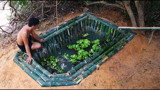 Download Bamboo fish pond Video