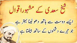 Download Hazrat Sheikh Saadi Quotes in Urdu    Islamic Quotes of Saadi Shirazi in Urdu    Sunehri Words Video