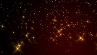 Shimmering Gold Stars - Free Stock Video Background Loop