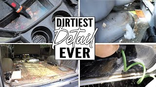 Download Cleaning The Dirtiest Car Interior Ever! Complete Disaster Full Interior Car Detailing Ford E-350 Video