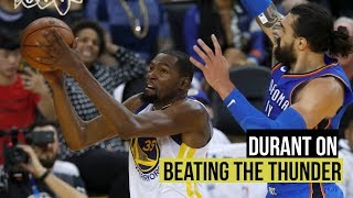 Download Kevin Durant on opening night win over Oklahoma City Thunder Video