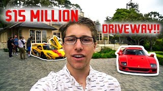 Download You'll Never Guess What This Millionaire Has In His ($15 Million) Driveway!! Video