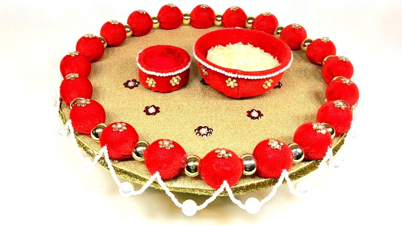 Stream diy decorative wedding trayplate diwalilaxmi pooja diy decorative wedding trayplate diwalilaxmi poojaaarati thali junglespirit Choice Image