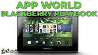 Download Blackberry Playbook App World Video