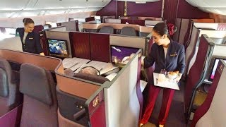Download World's BEST Business Class - Qatar Airways Qsuite Video