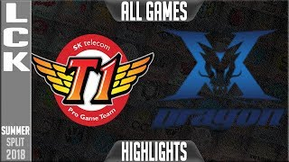 Download SKT vs KZ Highlights ALL GAMES | LCK Summer 2018 Week 3 Day 3 | SK Telecom T1 vs King-Zone DragonX Video