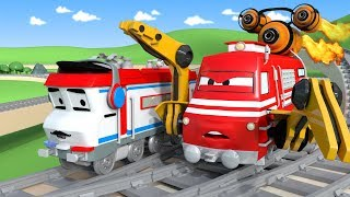 Download Troy The Train is the Speeding train in Car City | Cars & Trucks cartoon for children Video