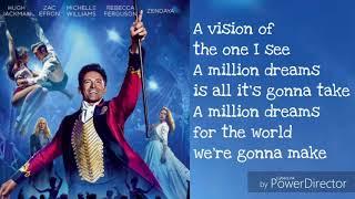Download A Million Dreams Lyrics Video