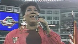 Download WS1993 Gm1: Aretha Franklin performs national anthem Video