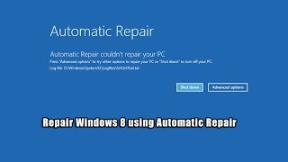 Download Repair Windows 8 using Automatic Repair Video