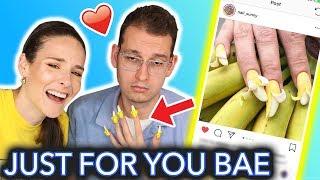 Download Giving My Boyfriend Banana Nails (peel me baby) Video