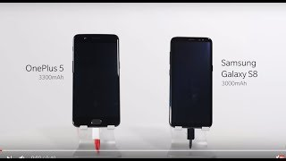Download OnePlus 5 Dash Charge vs Samsung Galaxy S8 Fast Charging: Which one is faster? Video