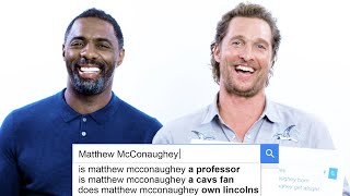 Download Matthew McConaughey & Idris Elba Answer the Web's Most Searched Questions | WIRED Video
