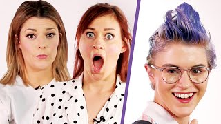 Download Grace Helbig and Mamrie Hart Give People Haircuts Video