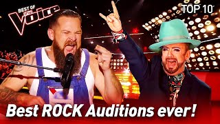 Download TOP 10 | ROCK Blind Auditions that made The Voice coaches go crazy! Video