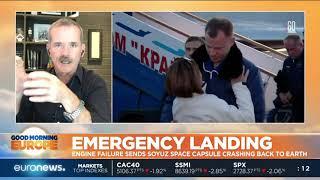 Download #GME  US-Russian space crew in Soyuz space capsule makes emergency landing Video