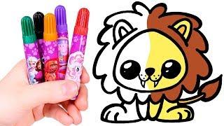 Download Dibuja y Colorea un León Kawaii 🦁🎨 Dibujos Kawaii Video