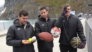 Download Sports Balls Vs. Magnus Effect from 200m Dam!   How Ridiculous Video
