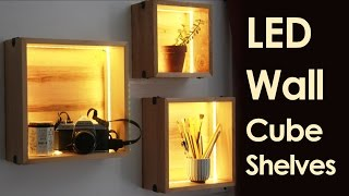 Download LED Wall Cube Shelves Video