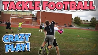 Download WORLD'S MOST ENTERTAINING BACK YARD TACKLE FOOTBALL GAME #2!! (IRL FOOTBALL MATCH) Video