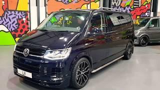 Download VW T6 67 Black 204ps 4 Motion Lwb Kombi With LV Sportline Pk For Sale September 2017 Video
