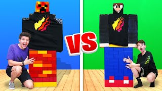 Download Mega Lego Minecraft Build Battle vs My 13 Year Old Little Brother Video