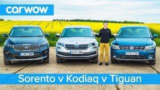 Download VW Tiguan-Allspace vs Skoda Kodiaq vs Kia Sorento - Which is the best 7-seater SUV? Video