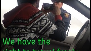 Download we all have the right to travel ! - California sheriff lets me travel without license or plates! Video
