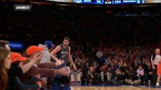 Download Kevin Love Hits The TOUGH Shot And High-Fives Spike Lee Video