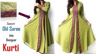 Download Transform Old Saree Into Designer Kurti, Recycle Your Old Clothes Video