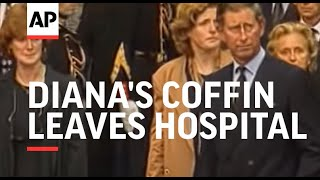 Download France - Diana's coffin leaves hospital for London Video