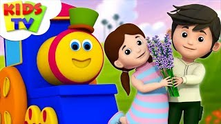 Download Lavender's Blue Dilly Dilly | Nursery Rhymes | Kids Songs By Bob The Train Video