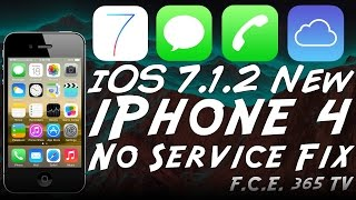 Download How to fix iPhone 4 No Service After iCloud Bypass on iOS 7.1.2 (GSM) Video