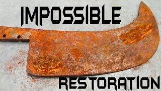 Download Ancient Meat Cleaver Restoration Video