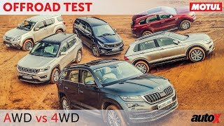 Download AWD vs 4WD - Kodiaq + Tiguan + Compass + Hexa + MU-X + Endeavour | Offroad Comparison | autoX Video