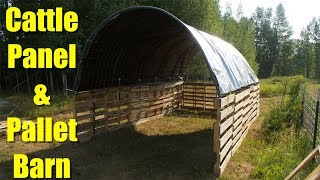 Download Building a Barn ( milking parlor ) from Pallets and Cattle Panels Video