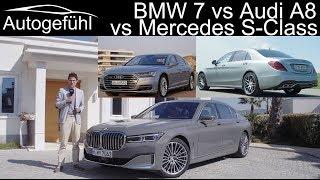 Download BMW 7 Series vs Audi A8 vs Mercedes S-Class Best luxury sedan comparison review Video