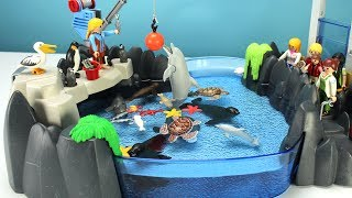 Download Playmobil Dolphin Aquarium Playset with Sea Animals - Fun Toys For Kids Video