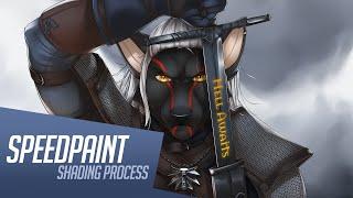 Download Furry Geralt - shading (part 2) / Witcher 3 fanart / SPEEDPAINT Video