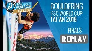 Download IFSC Climbing World Cup Tai'an 2018 - Bouldering - Finals - Men/Women Video