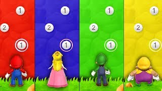 Download Mario Party 9 - Minigames - Mario vs Luigi vs Peach vs Wario (Master CPU) Video