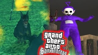 Download SLENDYTUBBIE en Callejones & Perros Zombies en Parques! - GTA San Andreas Horror Mod Video