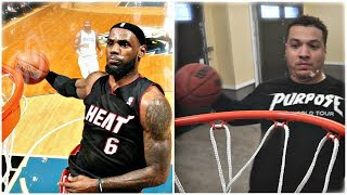 Download RECREATING THE BEST BASKETBALL DUNKS IN HISTORY!! (LEBRON JAMES, LONZO BALL) Video
