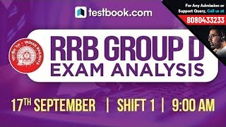 Download 9:30 am | RRB Group D Analysis Shift 1 | Exam Review + Questions | RRB Group D 2018 Crash Course Video