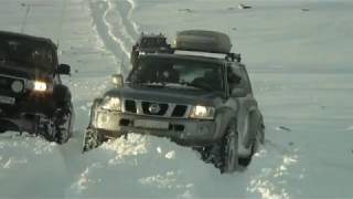 Download Biggest street legal Ford 350 in Europe 54 inch tires in snow action - Iceland Video