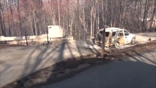 Download Chalet Village Gatlinburg Fire Damage - Wiley Oakley, Village Loop and a few nearby roads Video