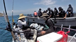 Download Stopped by FULLY ARMED Mexican Police while Fishing in Mexican Waters Video