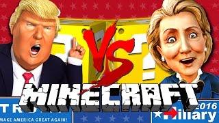 Download Minecraft | TRUMP VS CLINTON LUCKY BLOCK CHALLENGE | BUILD A WALL!! Video