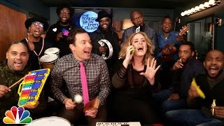 Download Jimmy Fallon, Adele & The Roots Sing ″Hello″ (w/Classroom Instruments) Video